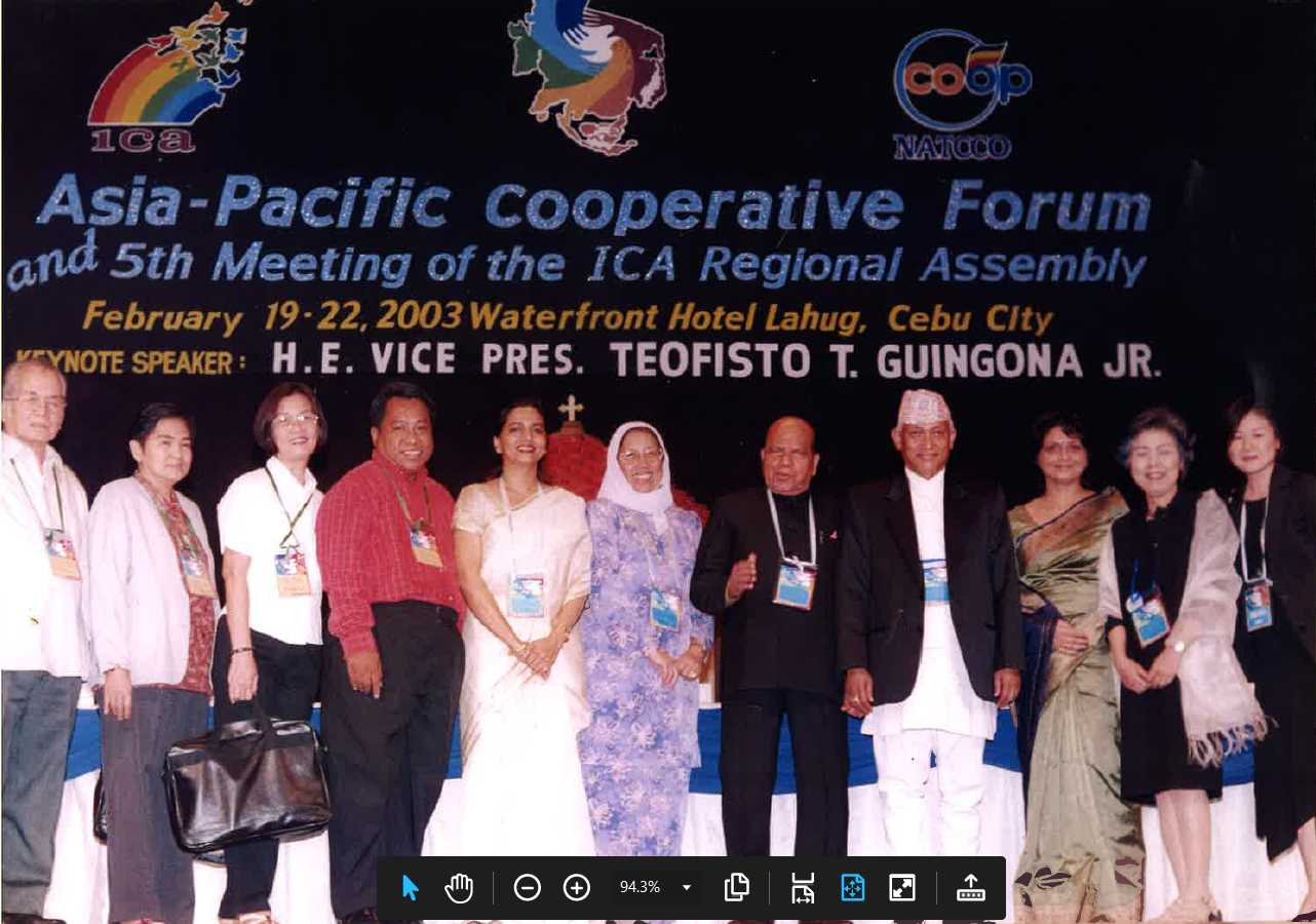 2003 Asia-Pacific cooperative forum and 5th meeting of the ICA Regional Assembly Philippines